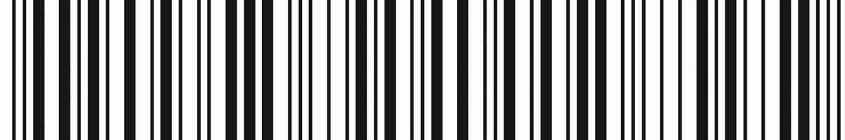 A barcode representing a product.